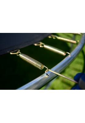 Батут FUNFIT 252 см с защитной сеткой и лестницей