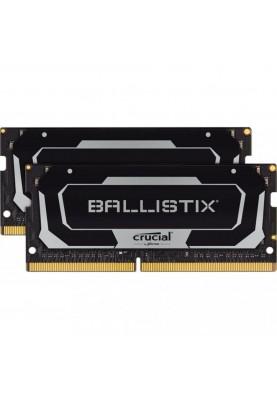 Память Crucial 32 GB (2x16GB) SO-DIMM DDR4 3200 MHz Ballistix Black (BL2K16G32C16S4B)