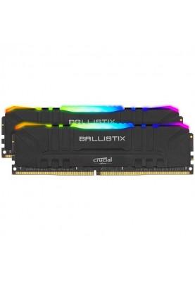 Память Crucial 32 GB (2x16GB) DDR4 3200 MHz Ballistix RGB Black (BL2K16G32C16U4BL)