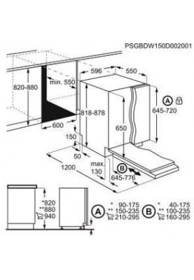 Встраиваемая посудомоечная машина Electrolux EEA717100L