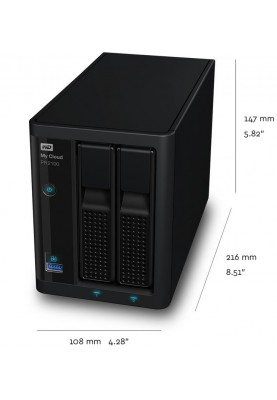 Сетевой накопитель WD My Cloud Pro Series PR2100 (WDBBCL0000NBK)