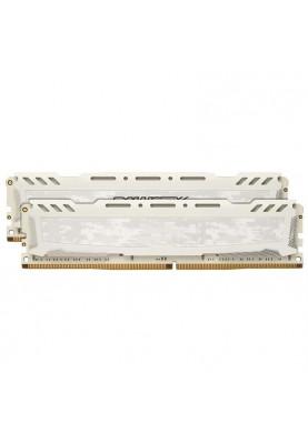 Память Crucial 32 GB (2x16GB) DDR4 2400 MHz Ballistix Sport LT White (BLS2K16G4D240FSC)