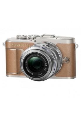 Беззеркальный фотоаппарат Olympus PEN E-PL9 kit (14-42mm) Brown