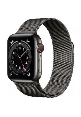 Смарт-часы Apple Watch Series 6 GPS + Cellular 40mm Graphite Stainless Steel Case w. Graphite Milanese L. (MG2U3)