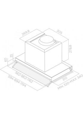 Вытяжка Elica BOX IN PLUS IXGL/A/90