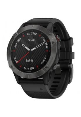 Спортивные часы Garmin Fenix 6 Sapphire Сarbon Grey DLC with Black Band (010-02158-11)