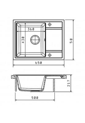 Кухонная мойка Galaţi Jorum 65 Avena (501)