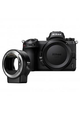 Беззеркальный фотоаппарат Nikon Z6 Body + FTZ Mount Adapter (VOA020K002)