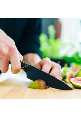 Кухонный нож Fiskars Deba Edge поварской азиатский 12 см Black (1003096)