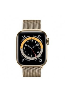 Смарт-часы Apple Watch Series 6 GPS + Cellular 40mm Gold Stainless Steel Case w. Gold Milanese L. (M02X3)