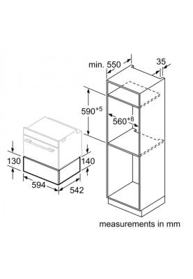 Встраиваемый вакуумный шкаф Siemens BV830ENB1