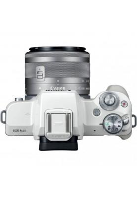 Беззеркальный фотоаппарат Canon EOS M50 kit (15-45mm) IS STM White (2681C057)