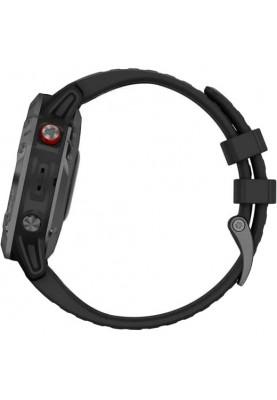 Смарт-часы Garmin Fenix 6 Pro Solar Edition Slate Gray With Black Band (010-02410-15)