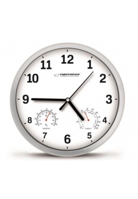 Часы настенные кварцевые аналоговые Esperanza EHC016W White