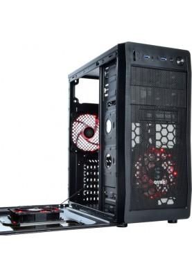 Корпус QUBE QB928A Black Red LED (QB928A_WRNU3)