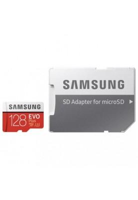 Карта памяти Samsung 128 GB microSDXC Class 10 UHS-I U3 EVO Plus 2020 + SD Adapter MB-MC128HA