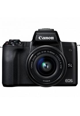 Беззеркальный фотоаппарат Canon EOS M50 kit (15-45mm +22mm) IS STM Black (2680C055)