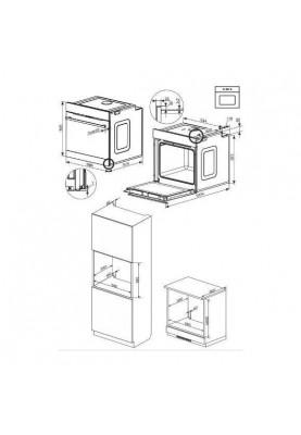 Духовка электрическая Amica ED37618B X-TYPE