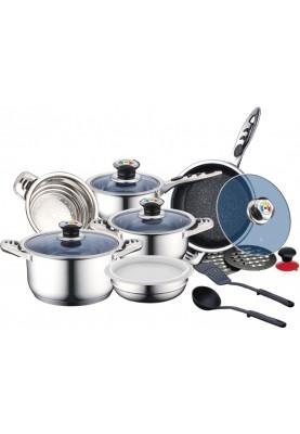 Набор посуды из нержавеющей стали 16 предметов Royalty Line (RL-16RGNM)