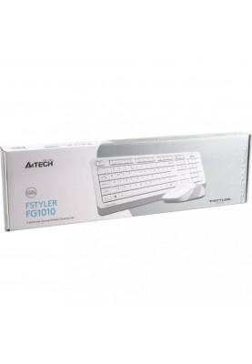 Комплект (клавиатура + мышь) A4Tech Fstyler FG1010 White/Grey