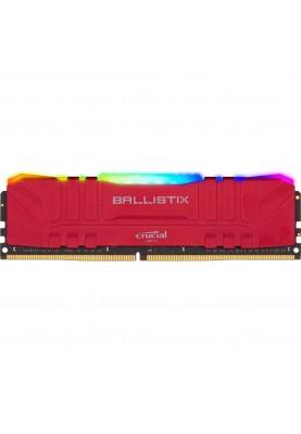Оперативная память Crucial 16 GB (2x8GB) DDR4 3000 MHz Ballistix RGB Red (BL2K8G30C15U4RL)