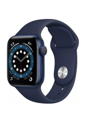 Смарт-часы Apple Watch Series 6 GPS 40mm Blue Aluminum Case w. Deep Navy Sport B. (MG143)