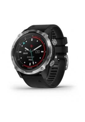Смарт-часы Garmin Descent Mk2 Stainless Steel with Black Band (010-02132-00/10)